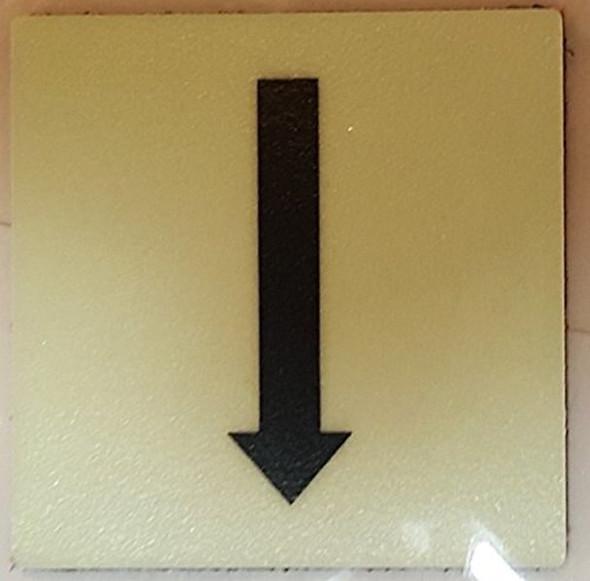 "SIGNS PHOTOLUMINESCENT DOOR IDENTIFICATION LETTER ""One Arrow"
