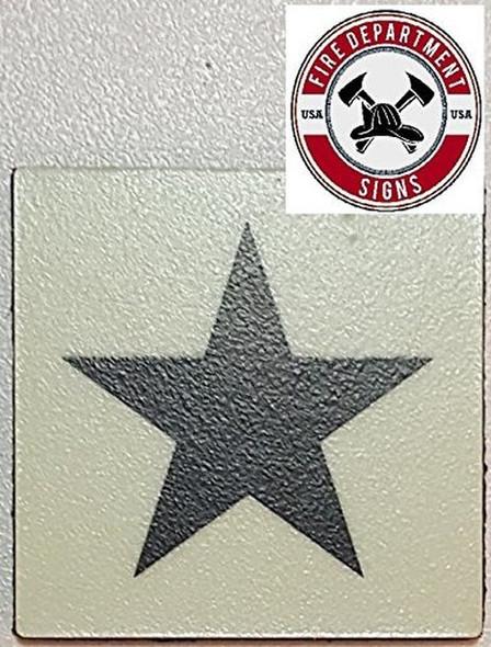 "SIGNS PHOTOLUMINESCENT DOOR IDENTIFICATION LETTER ""STAR"" SIGN"