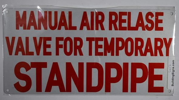 SIGNS Manual AIR Release Valve for Temporary