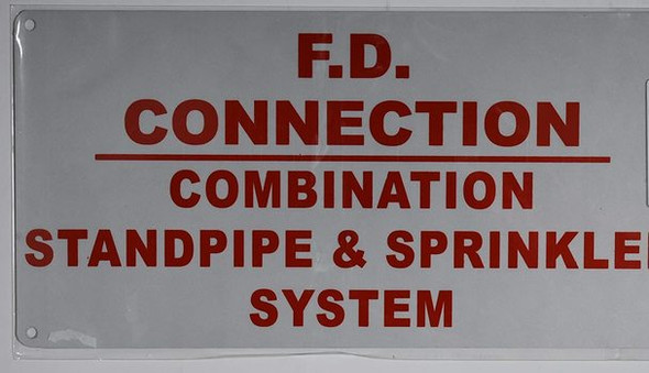 SIGNS F.D Connection Combination Standpipe & Sprinkler