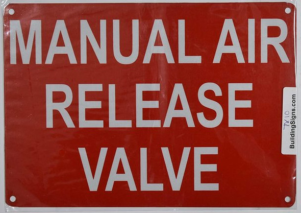 Manual AIR Release Valve Sign (Reflective