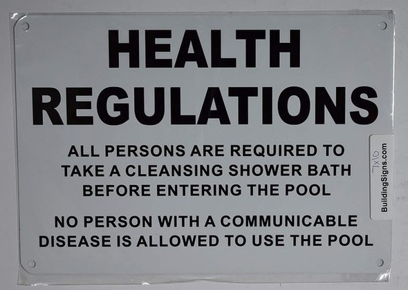 Health REGULATIONS Required to TAKE Cleansing