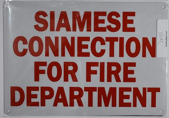 SIGNS Siamese Connection for FIRE DEPT Sign
