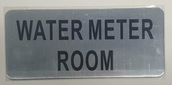 SIGNS WATER METER ROOM SIGN - BRUSHED