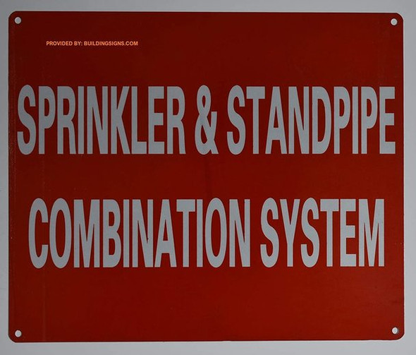 SIGNS Sprinkler and Standpipe Combination System Sign
