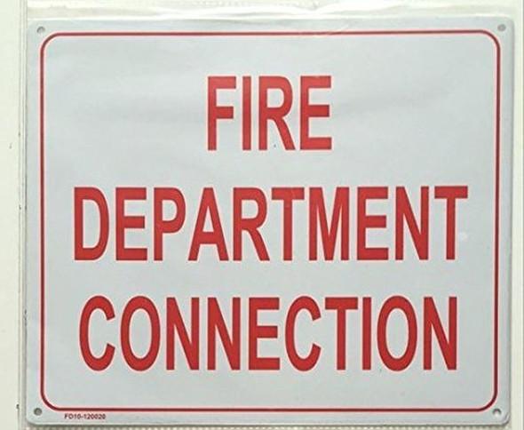 FIRE DEPARTMENT CONNECTION SIGN ( ALUMINIUM