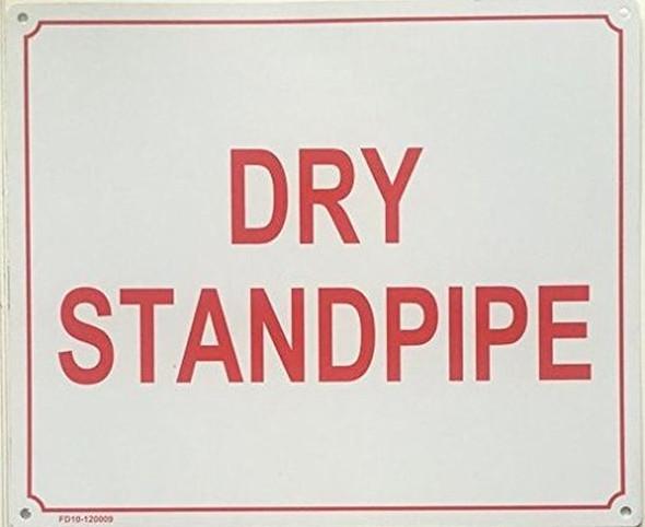DRY STANDPIPE SIGN -( WHITE,ALUMINIUM 10X12)-(ref062020)