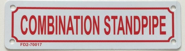 SIGNS Combination Standpipe Sign (White Background, Aluminium