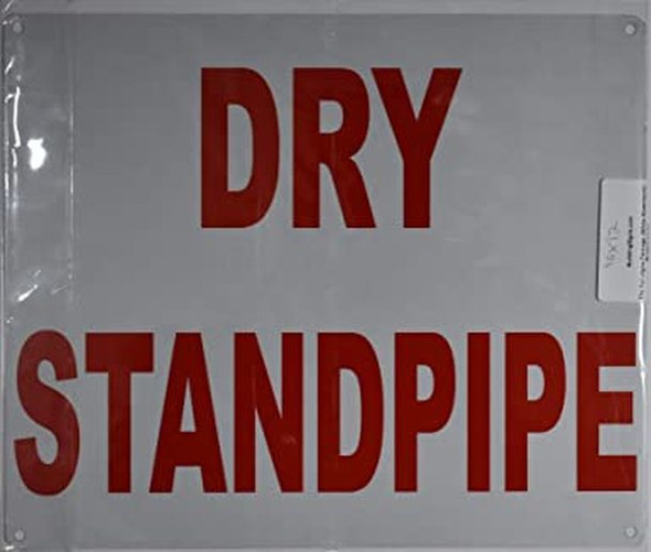 SIGNS Dry Stand pipe Sign (Rust Free