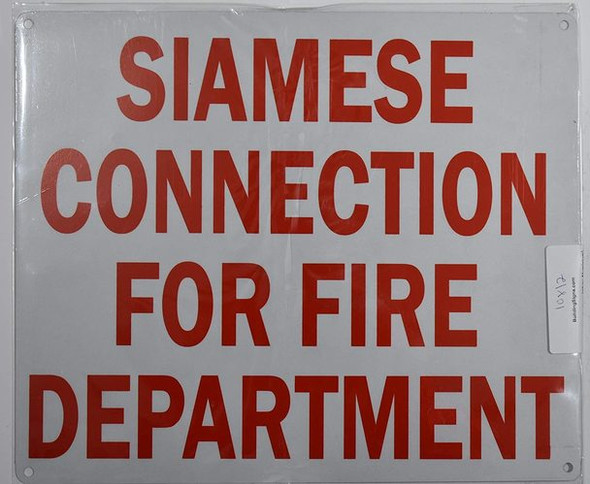 FIRE DEPARTMENT CONNECTION SIGNS