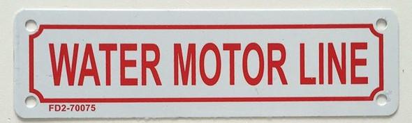 SIGNS WATER MOTOR LINE SIGN ( ALUMINIUM