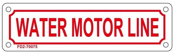 WATER MOTOR LINE SIGN ( ALUMINIUM