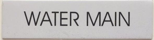 WATER MAIN SIGN - PURE WHITE