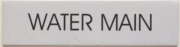 SIGNS WATER MAIN SIGN - PURE WHITE