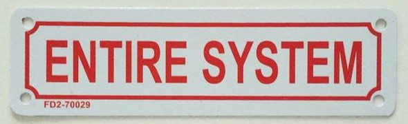 SIGNS ENTIRE SYSTEM SIGN ( ALUMINIUM 2X7
