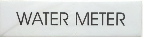 SIGNS WATER METER SIGN - PURE WHITE