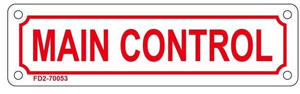 MAIN CONTROL SIGN (WHITE, ALUMINIUM 2X7