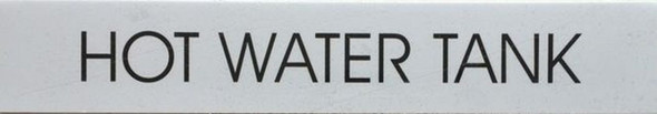HOT WATER TANK SIGN - PURE