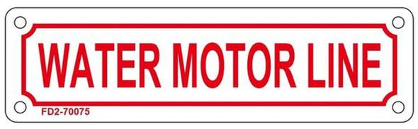 WATER MOTOR LINE SIGN (WHITE, ALUMINUM