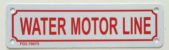 SIGNS WATER MOTOR LINE SIGN (WHITE, ALUMINUM