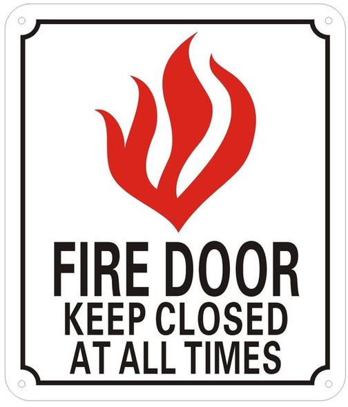 FIRE Door Keep Closed Sign -Reflective