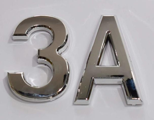 Apartment Number 3A Sign/Mailbox Number Sign,