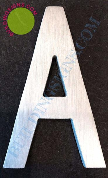 Aluminum Letter A Sign (Brush Silver,Double