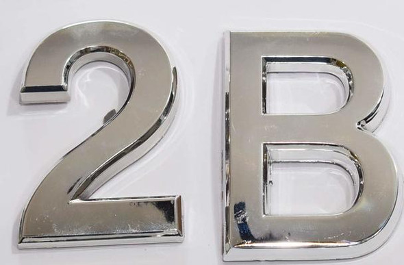 Apartment Number 2B Sign/Mailbox Number Sign,