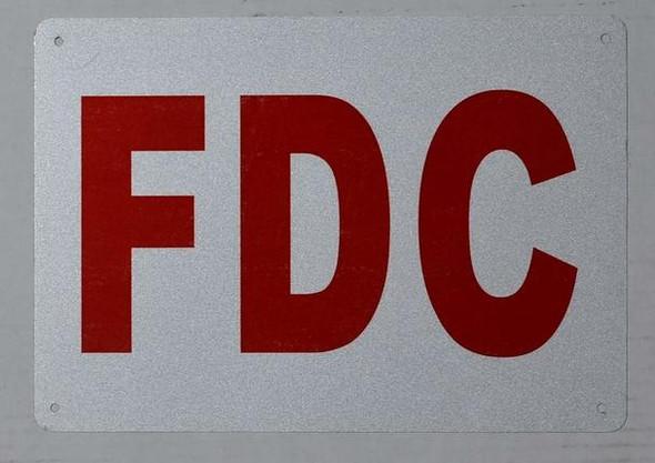 FDC Sign (White, Reflective !!, Aluminium,
