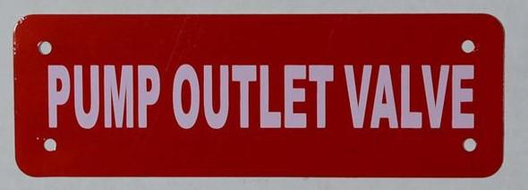 Pump Outlet Valve Sign (RED Reflective,