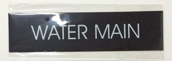 WATER MAIN SIGN - BLACK (ALUMINUM
