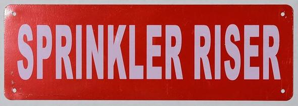 Sprinkler Riser Sign (Aluminium,Reflective !!!, RED