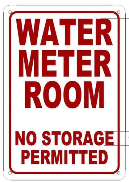 WATER METER ROOM NO STORAGE PERMITTED