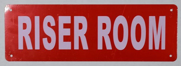 SIGNS Riser Room Sign (Aluminium,Reflective !!!, RED