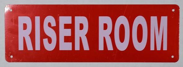 Riser Room Sign (Aluminium,Reflective !!!, RED