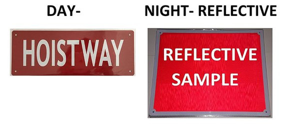SIGNS Hoistway Sign - (Red Reflective !!!,