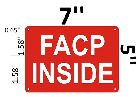 SIGNS FACP Inside Sign - Reflective !!!