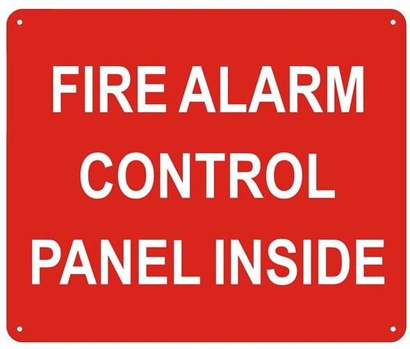 FIRE Alarm Control Panel Inside Sign
