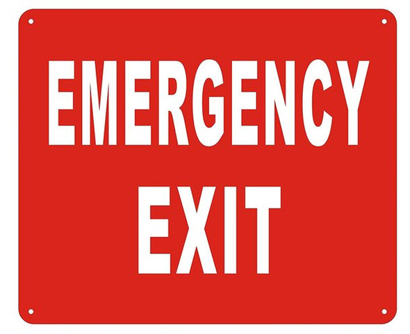 EMERGENCY EXIT SIGN - ( Reflective