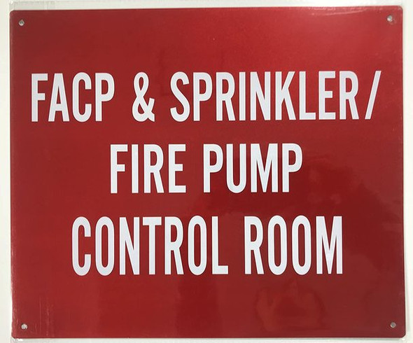 SIGNS FACP & Sprinkler FIRE Pump Control