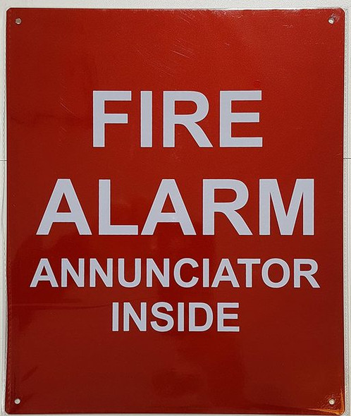 SIGNS FIRE Alarm Annunciator Inside Sign -