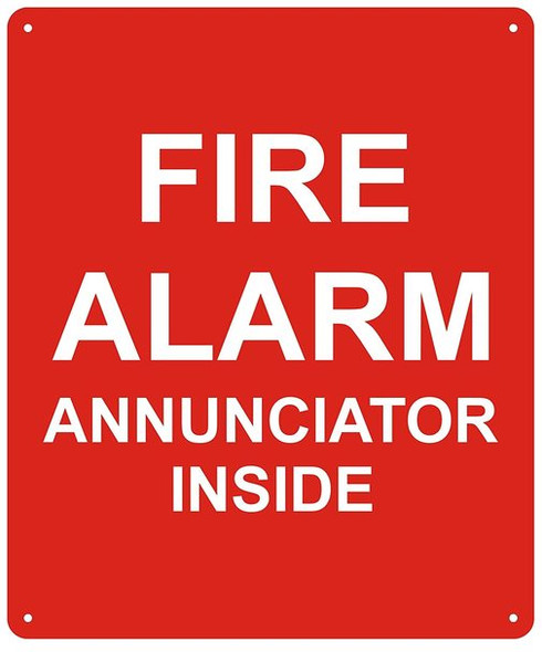FIRE Alarm Annunciator Inside Sign -