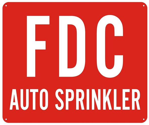 FDC AUTO SPRINKLER SIGN -RED (