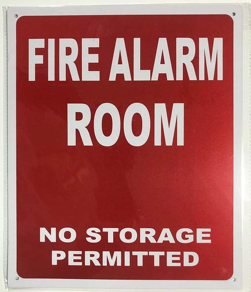 SIGNS FIRE ALARM ROOM SIGN - RED
