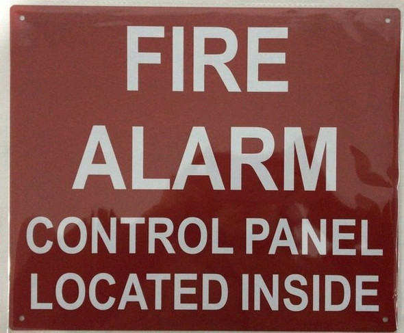 SIGNS FIRE Alarm Control Panel Located Inside