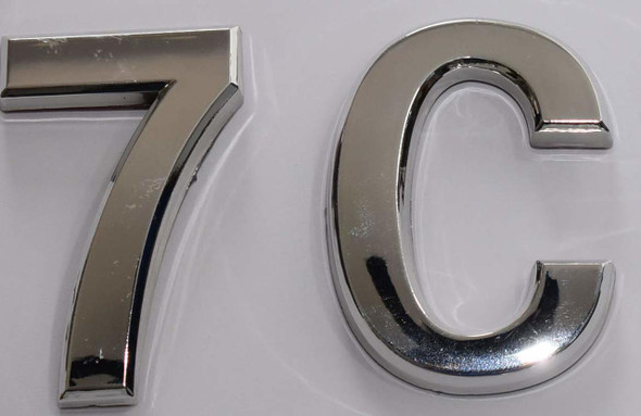 Apartment Number 7C Sign/Mailbox Number Sign,
