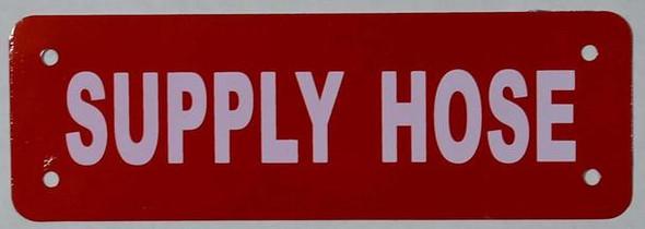 Supply Hose Sign (White Reflective, Aluminium