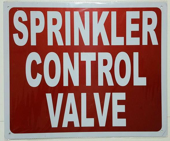 SIGNS Sprinkler Control Valve Sign - (Red,Reflective