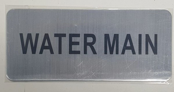 SIGNS WATER MAIN SIGN - BRUSHED ALUMINUM