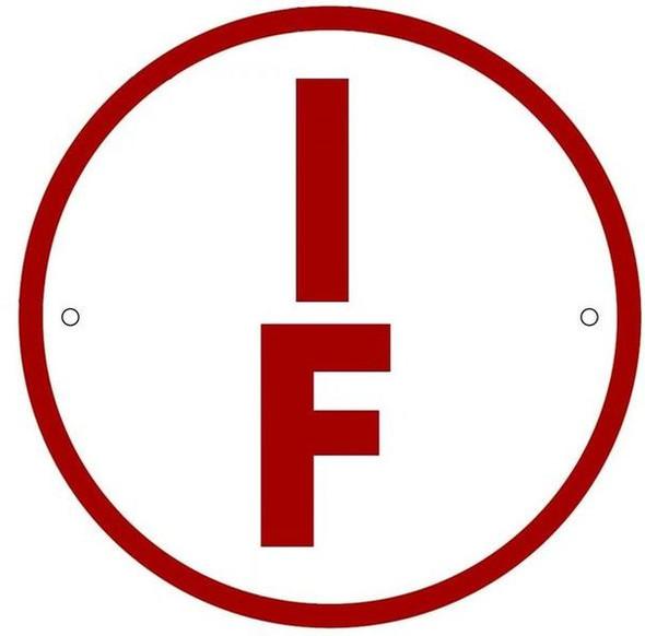 SIGNS I-F Floor Truss Circular Sign (WHITE
